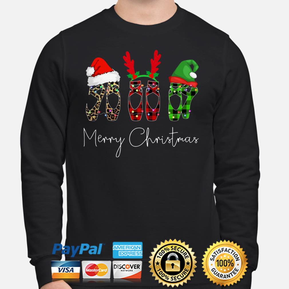 Ballet shoes Merry Christmas sweater