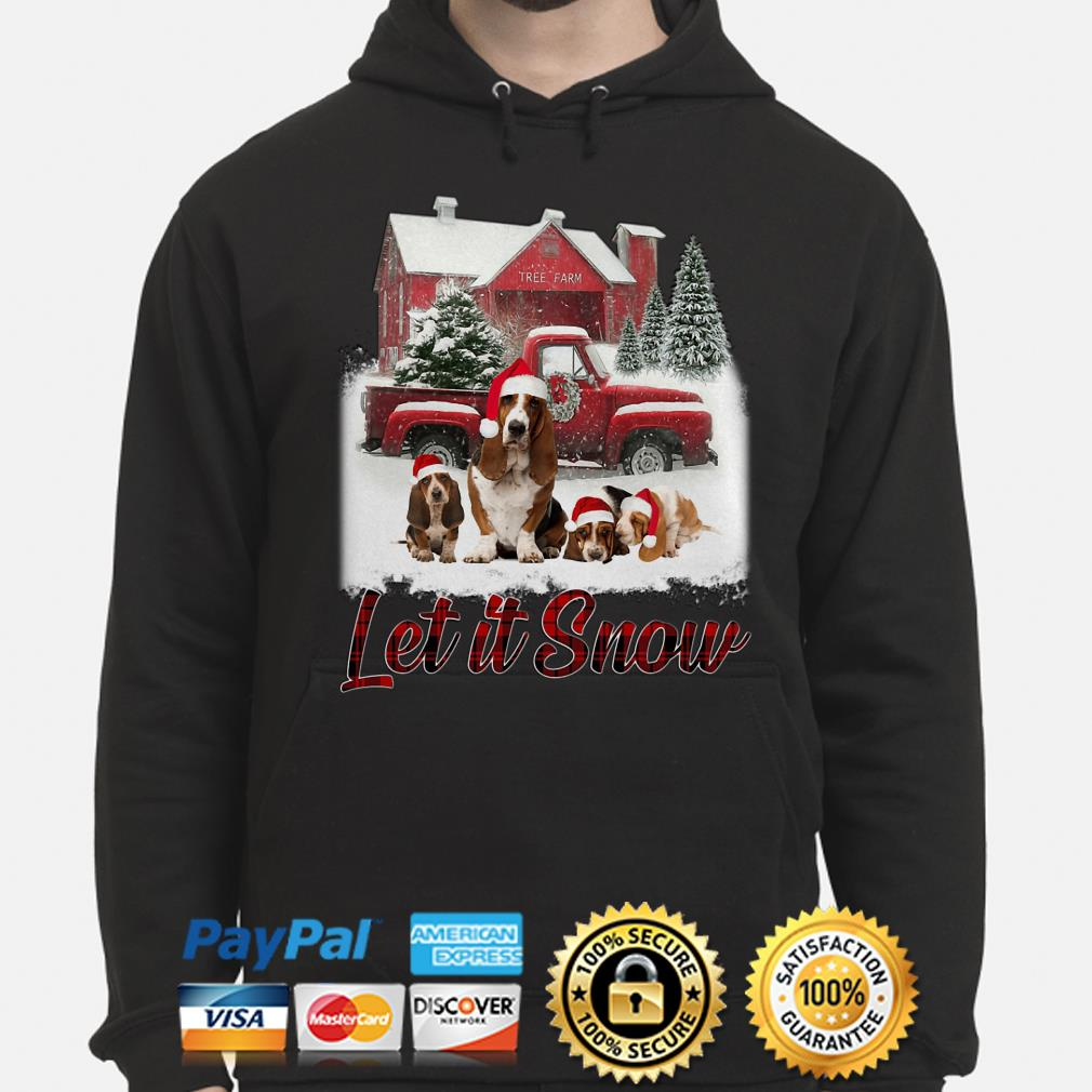 Basset Hound Let It Snow Christmas hoodie