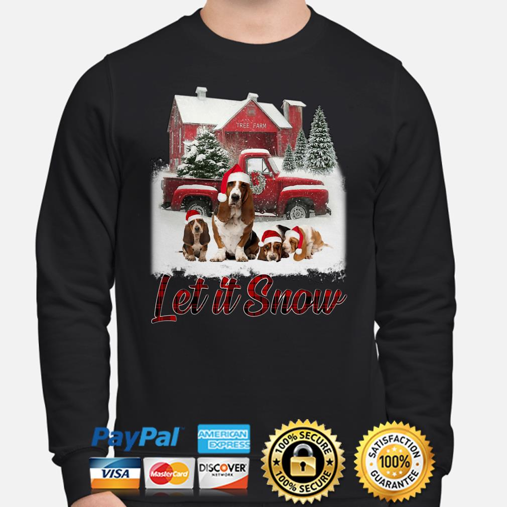 Basset Hound Let It Snow Christmas sweater