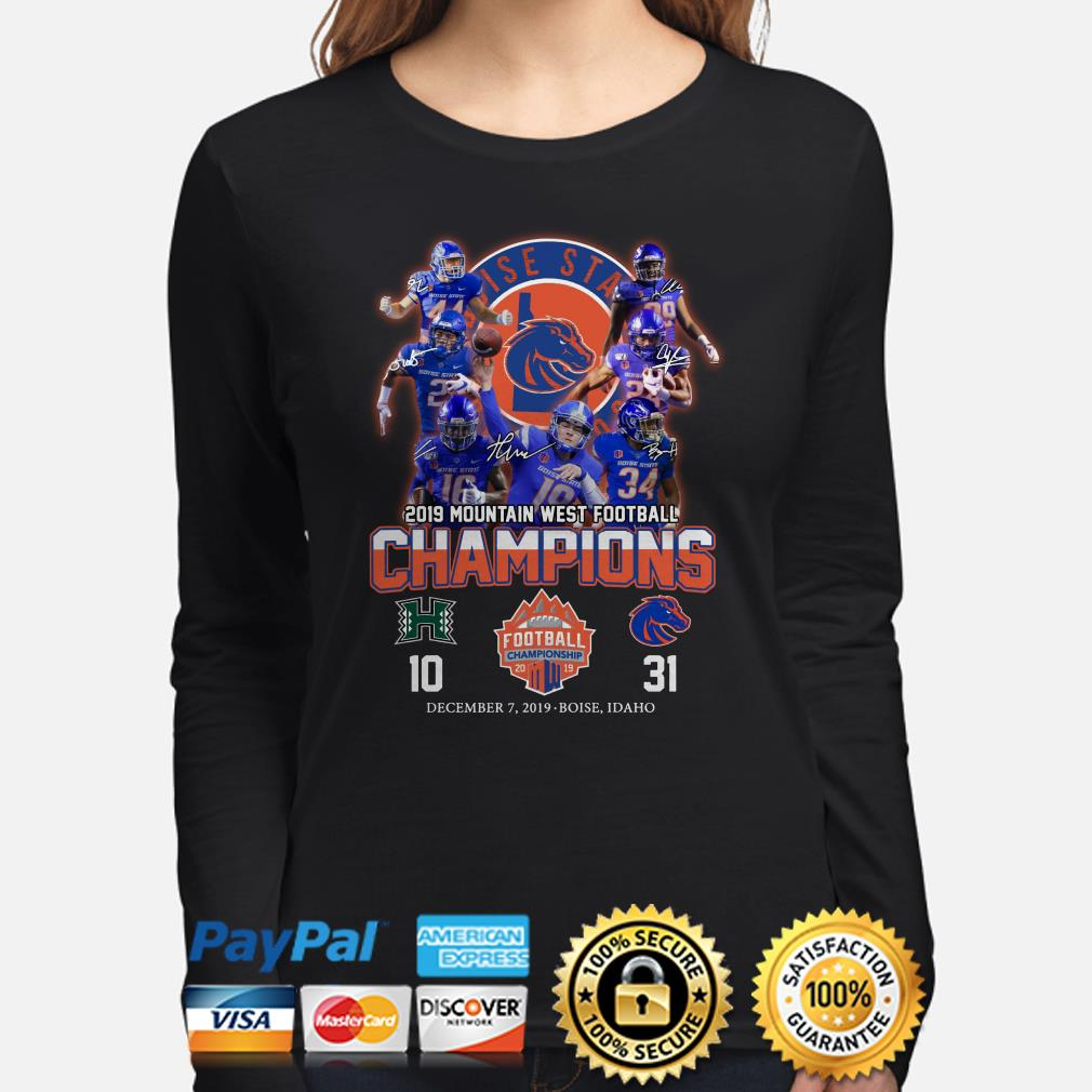 Boise State Broncos 2019 Mountain West Football Champions signature Long sleeve