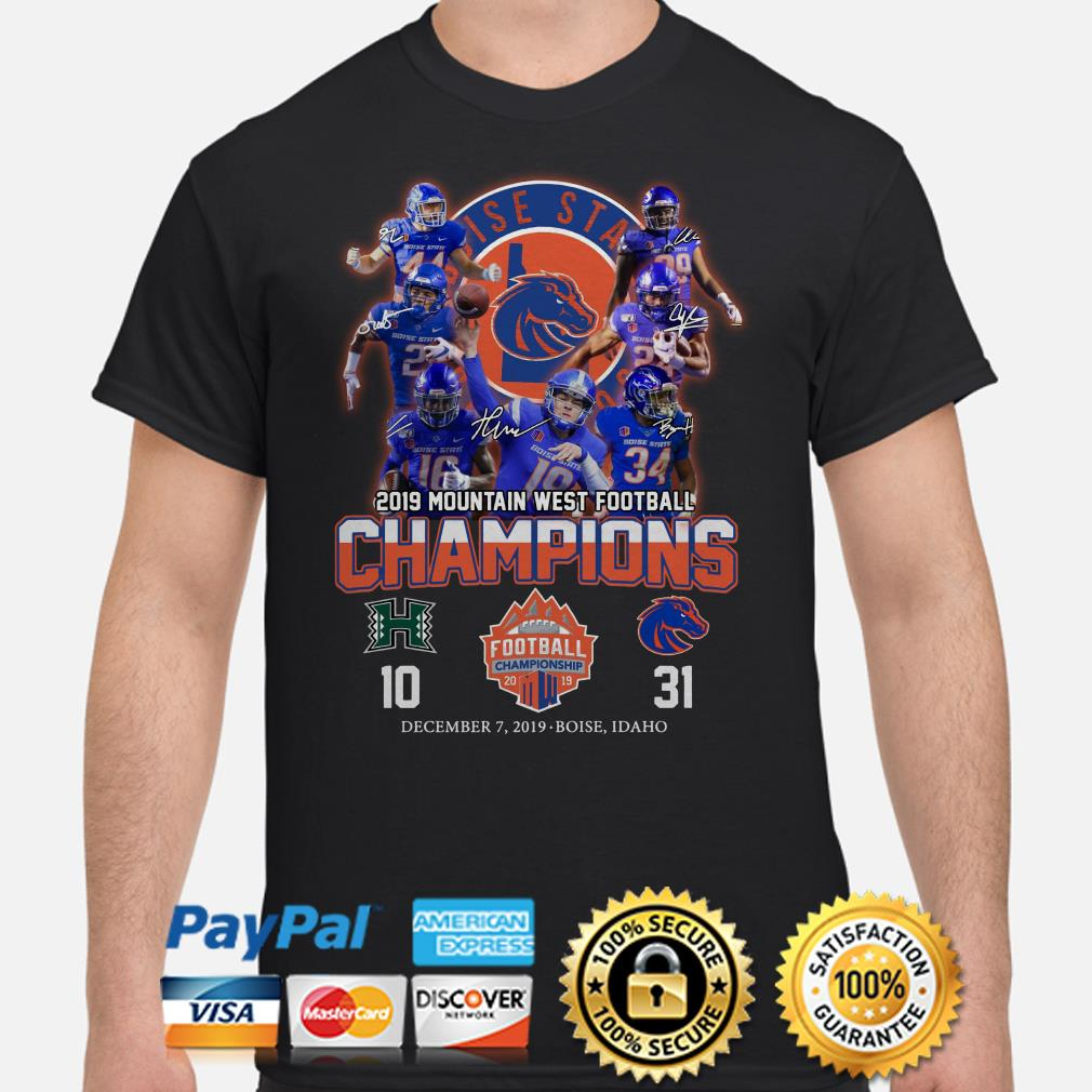 Boise State Broncos 2019 Mountain West Football Champions signature shirt