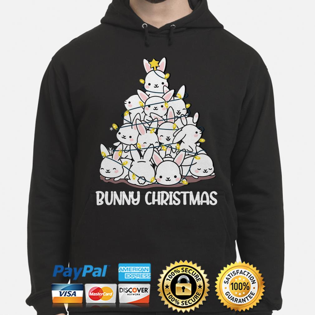 Bunny Christmas tree lights hoodie