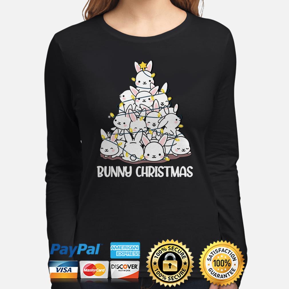 Bunny Christmas tree lights long sleeve
