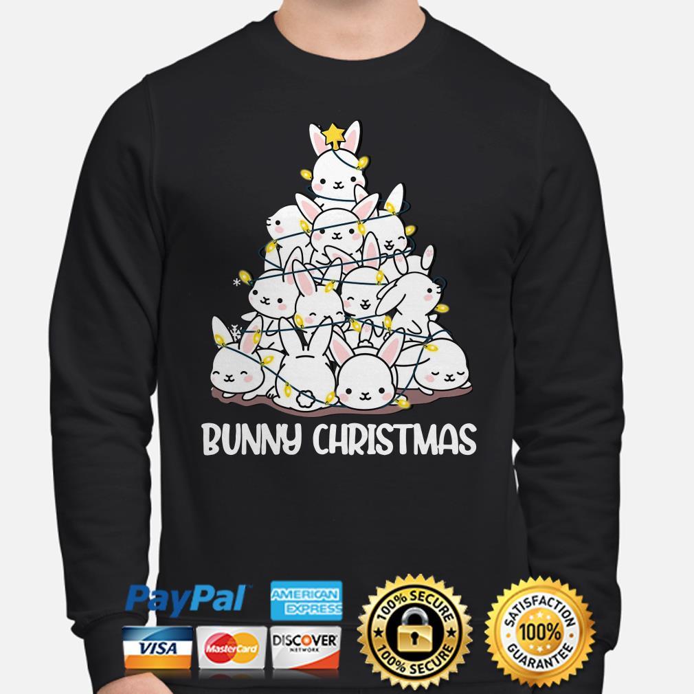 Bunny Christmas tree lights sweater
