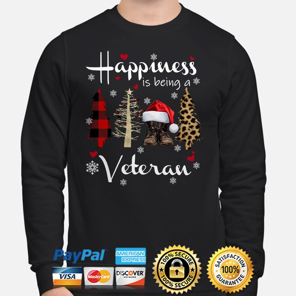 Christmas tree happiness is being a veteran sweater