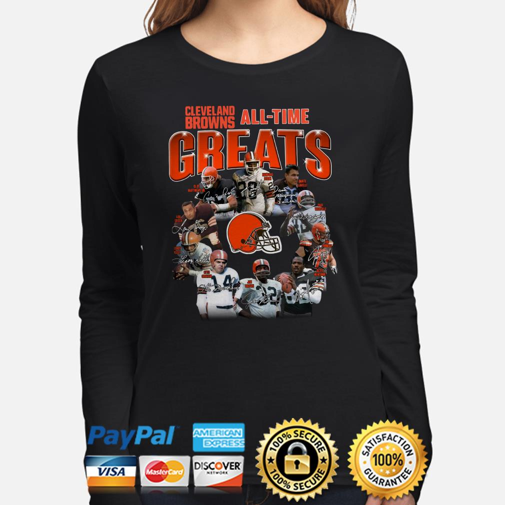 Cleveland Brown All-time greats signature Long sleeve