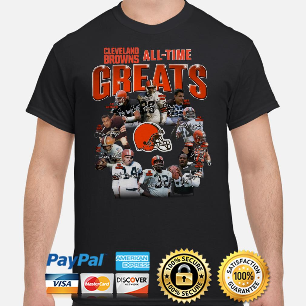 Cleveland Brown All-time greats signature shirt