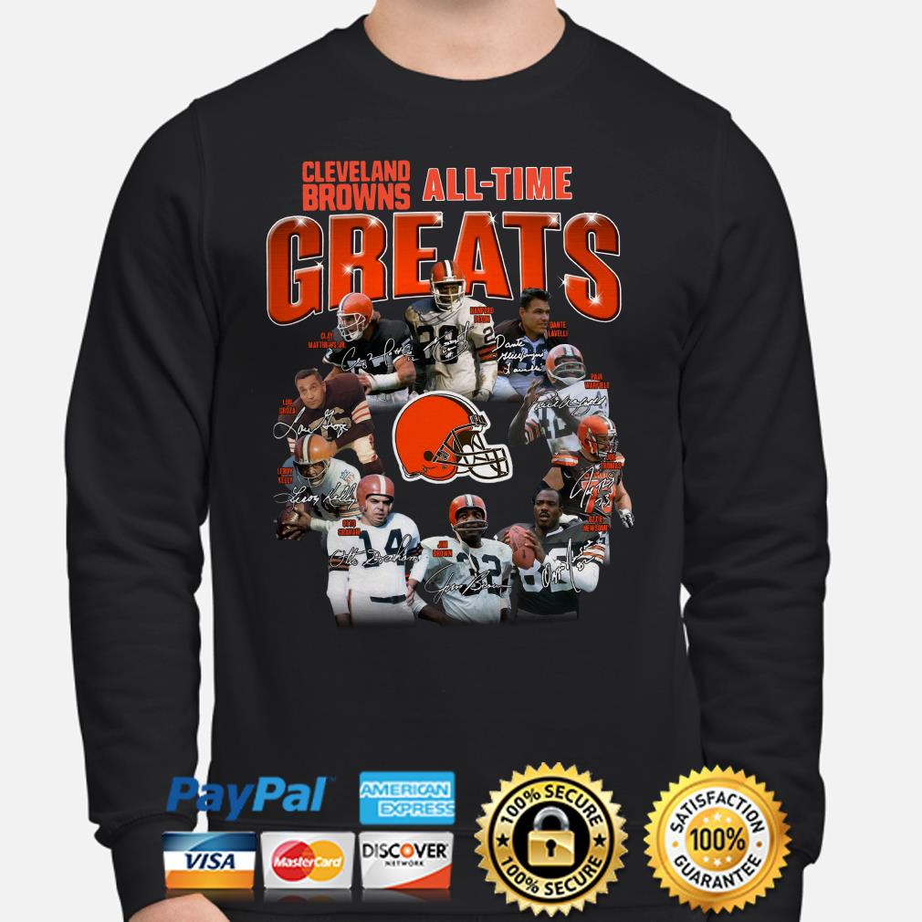 Cleveland Brown All-time greats signature Sweater
