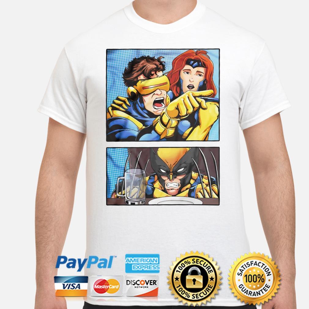 Cyclops Yelling at Wolverine shirt