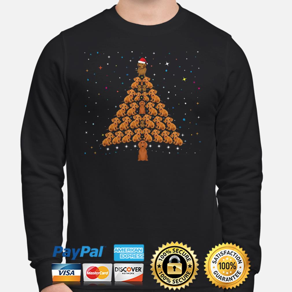 Dachshund Christmas tree sweater