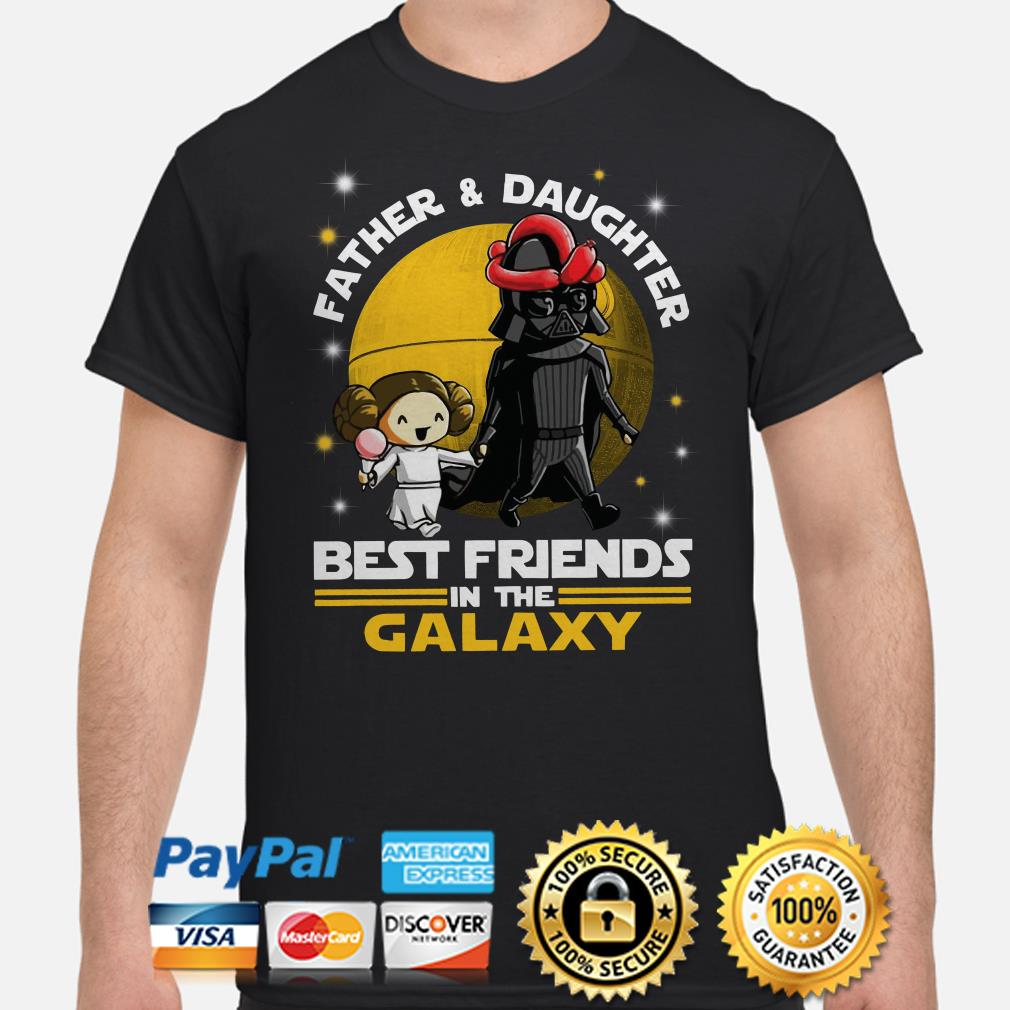 Darth Vader and Little Princess best friends in the Galaxy shirt