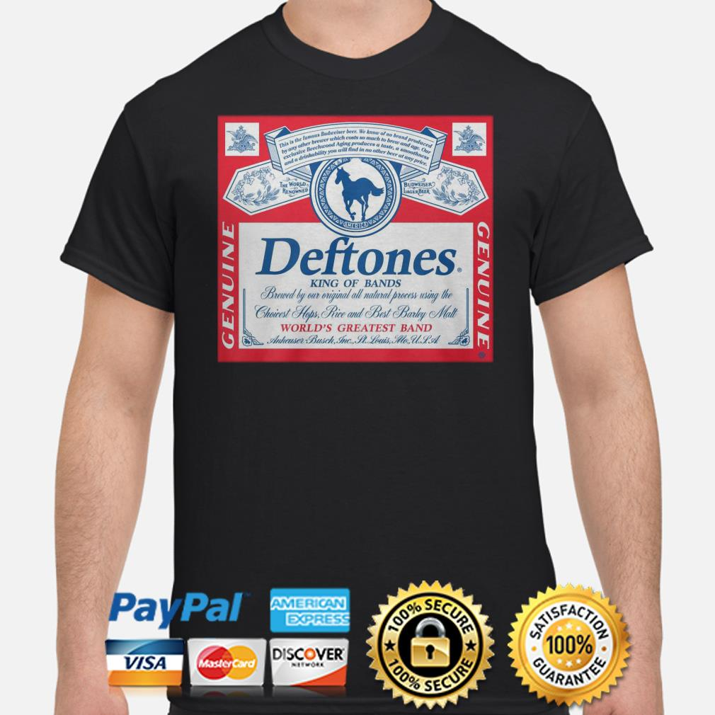 Deftones king of brands world's greatest band shirt