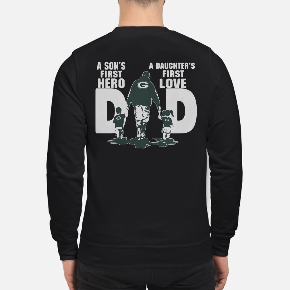 Green Bay Packers dad a son's first hero a daughter's first love Sweater