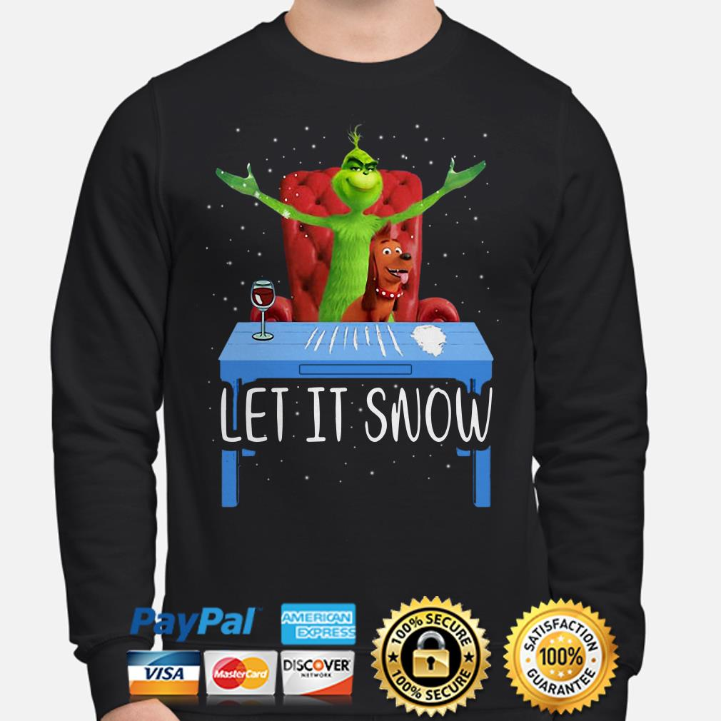 Grinch and Max Let it Snow Christmas sweater