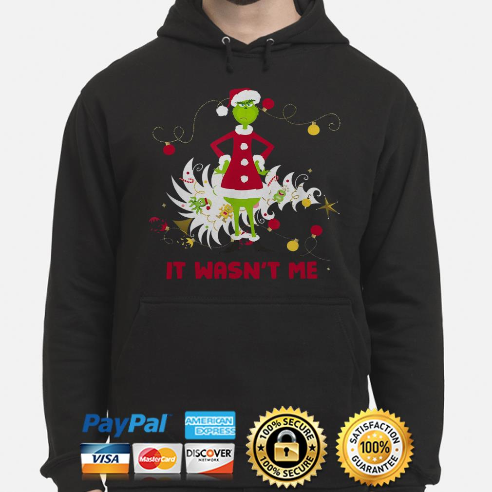 Grinch stole Christmas it wasn't me hoodie