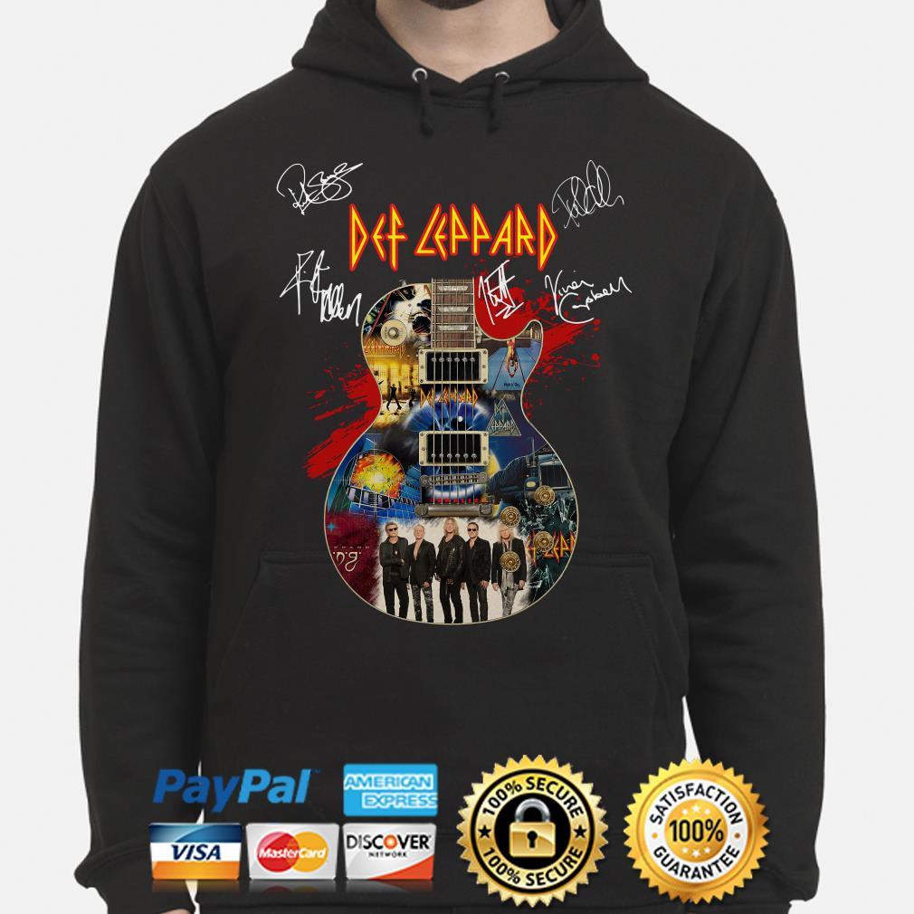 Guitar Def Leppard signature Hoodie