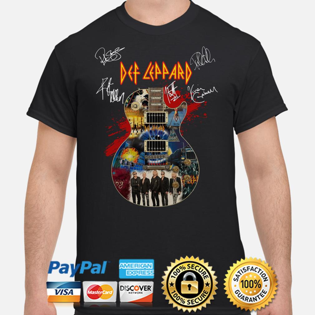 Guitar Def Leppard signature shirt