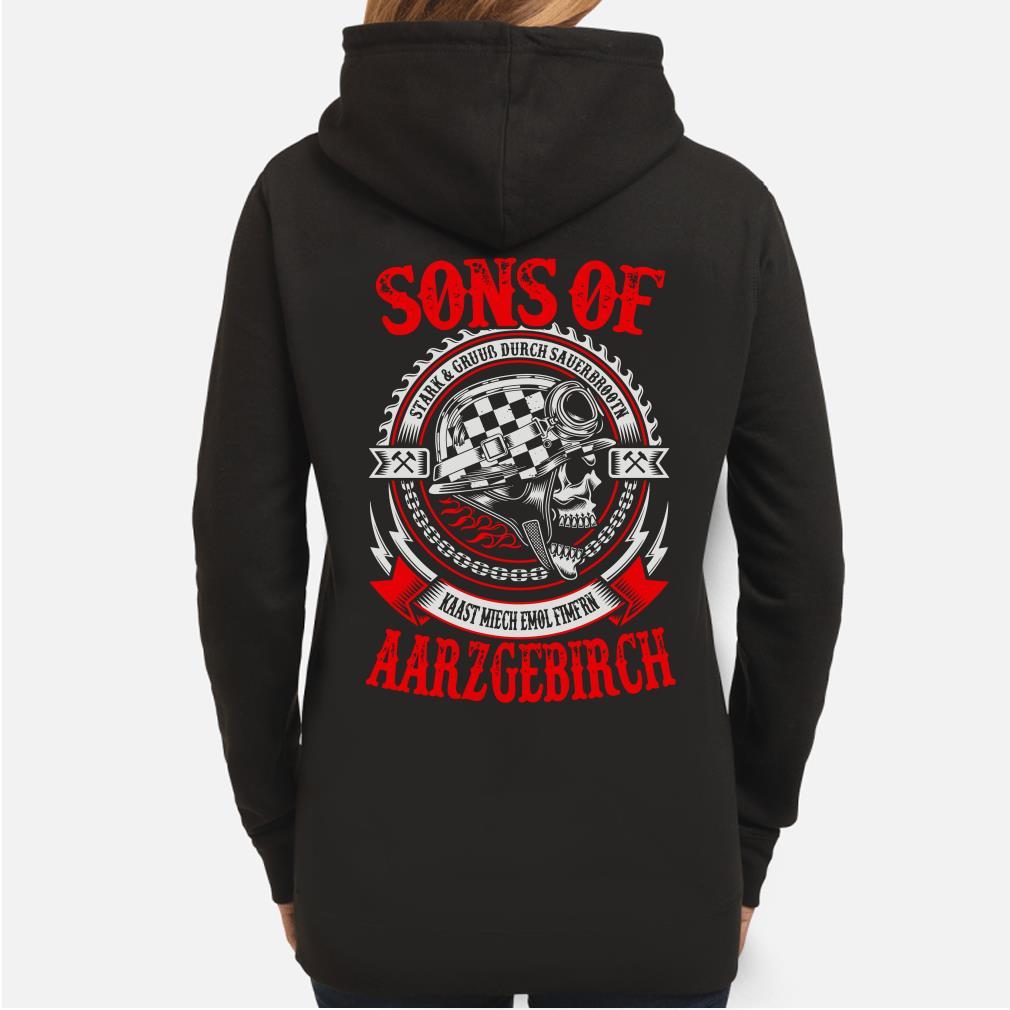 Sons of Aarzgebirch Stark Gruub Durch Sauerbrootn Kaast Miech Emol Fimfrn Hoodie