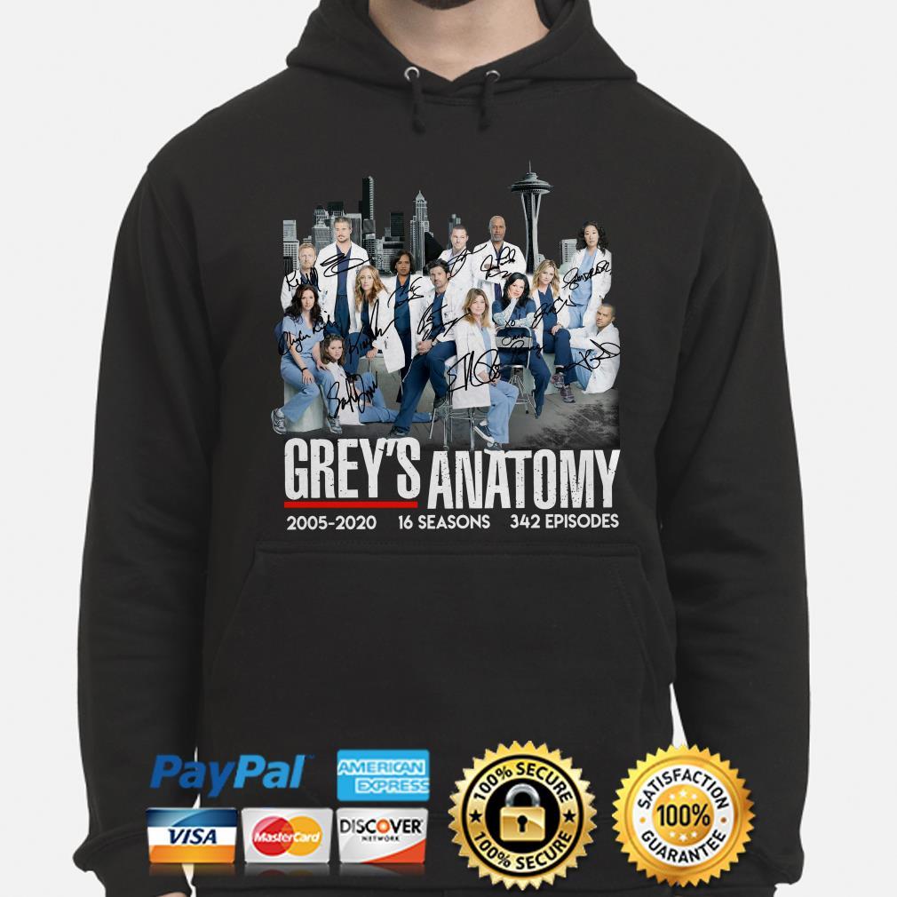 Grey's Anatomy 2005 2020 signatures Hoodie