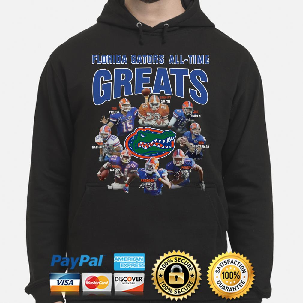 Florida Gators All-time greats signatures Hoodie