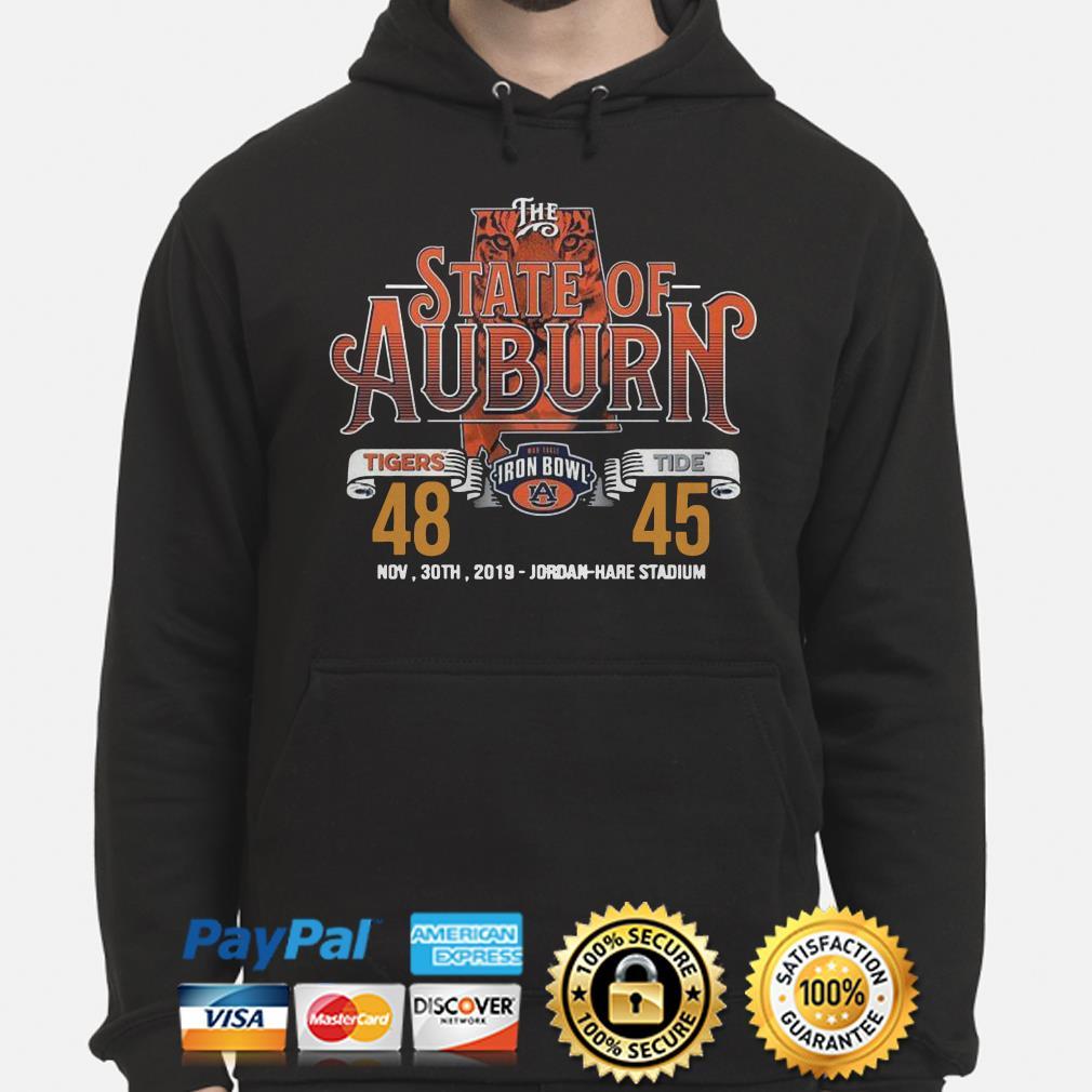 The State of Auburn Tigers Tide Nov 30th 2019 Jordan Hare Stadium Hoodie