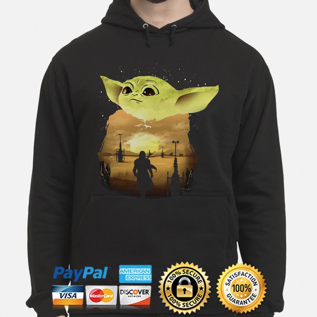 Baby Yoda Sunset Hoodie