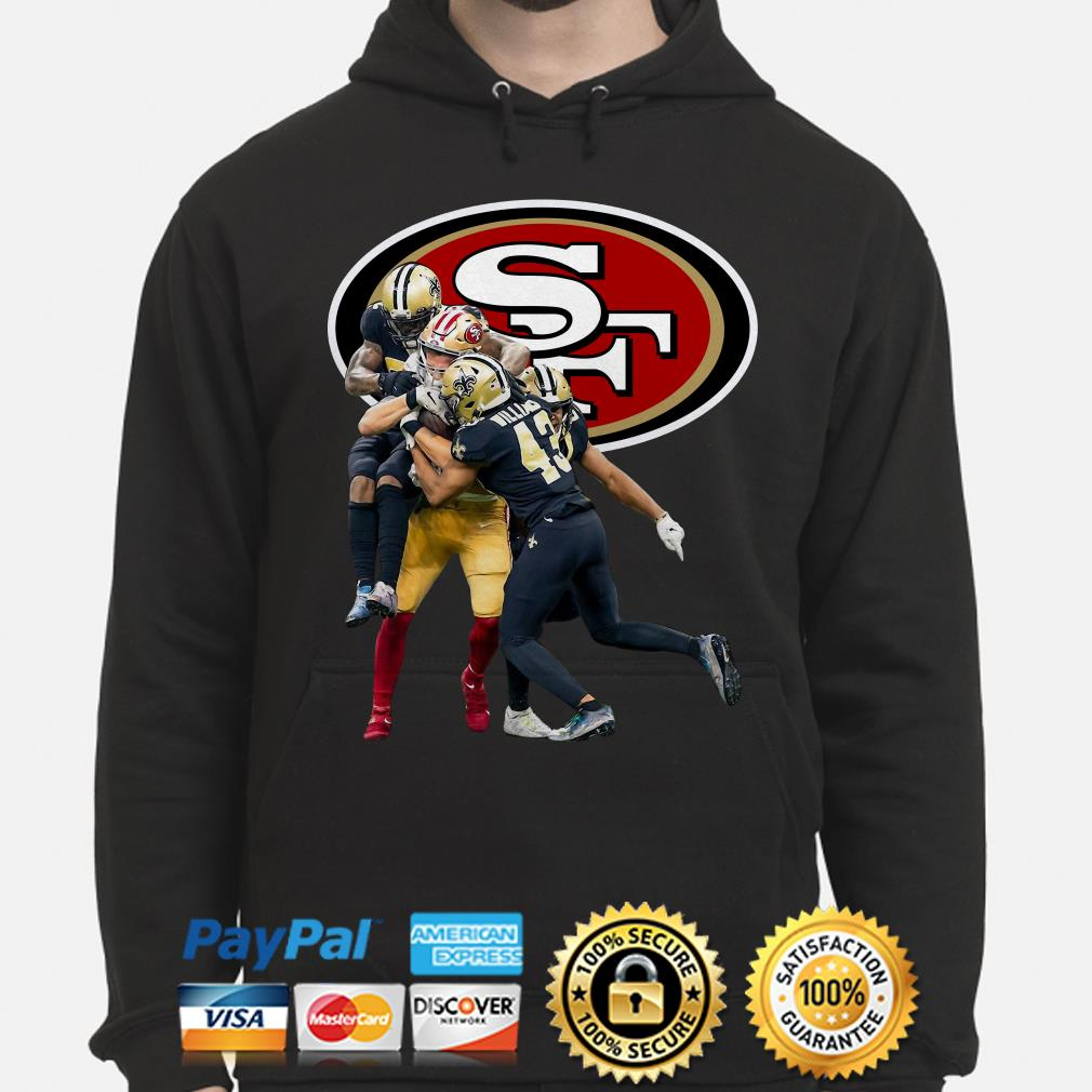 San Francisco and New Orleans Saints Marcus Williams Hoodie