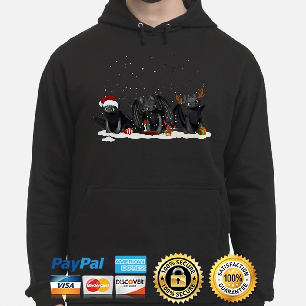 Santa Night Fury reindeer Christmas hoodie