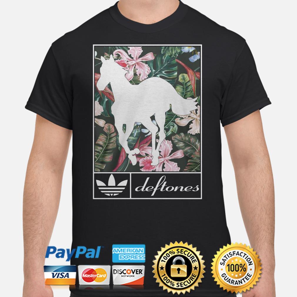Horse Floral Adidas deftones shirt