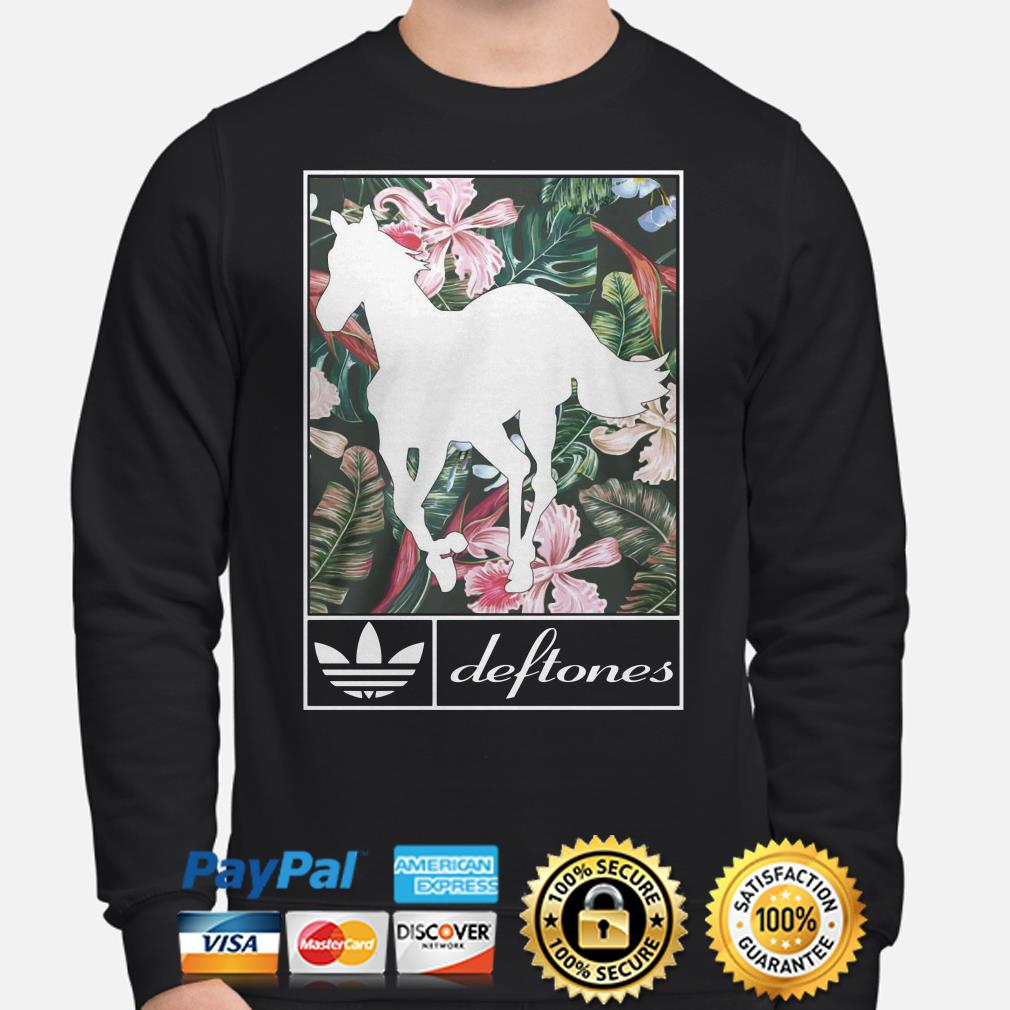 Horse Floral Adidas deftones Hoodie