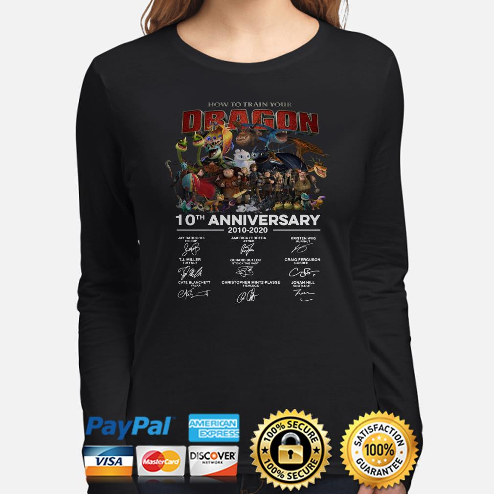 How To Train Your Dragon 10th Anniversary signature Long sleeve