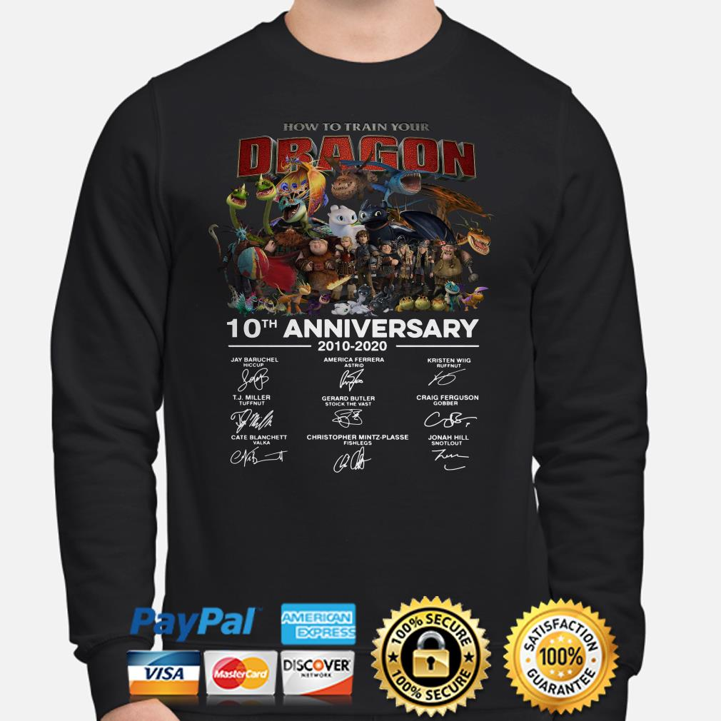 How To Train Your Dragon 10th Anniversary signature Hoodie