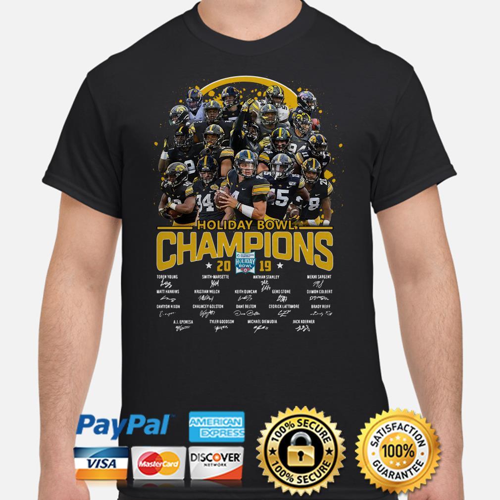 Iowa Hawkeyes Holiday Bowl Champions 2019 signature shirt