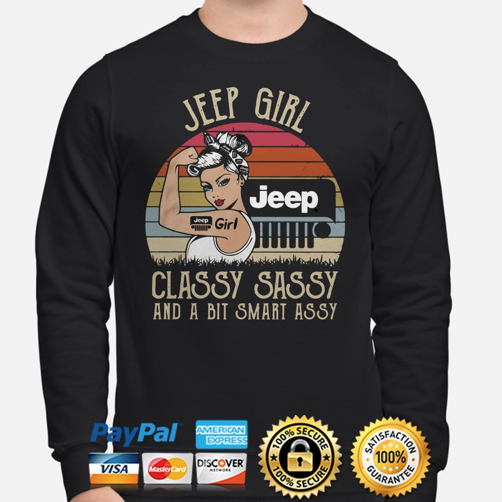 Jeep girl classy sassy and a bit smart assy vintage Sweater