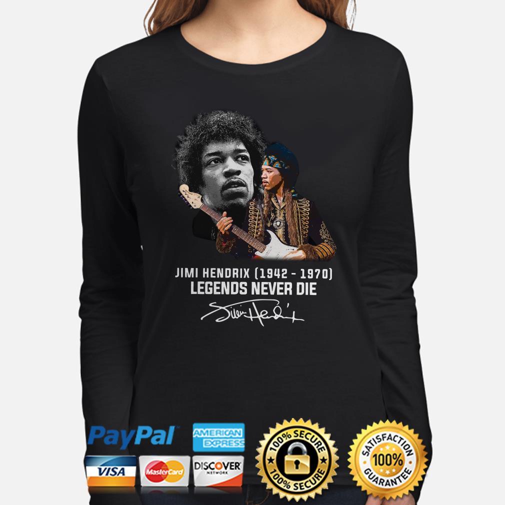 Jimi Hendrix Legends never die signature Long sleeve