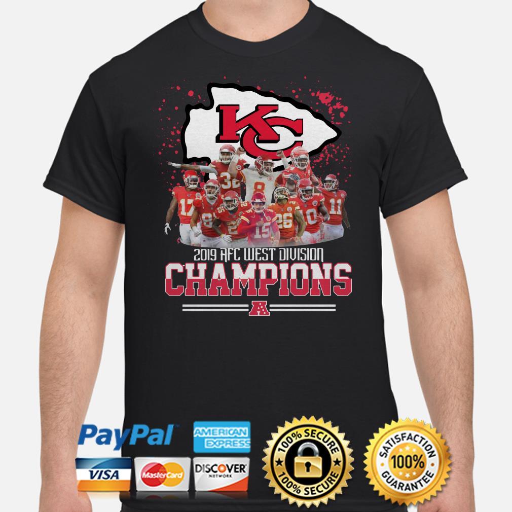 Kansas City Chiefs 2019 AFC West Division Champions shirt