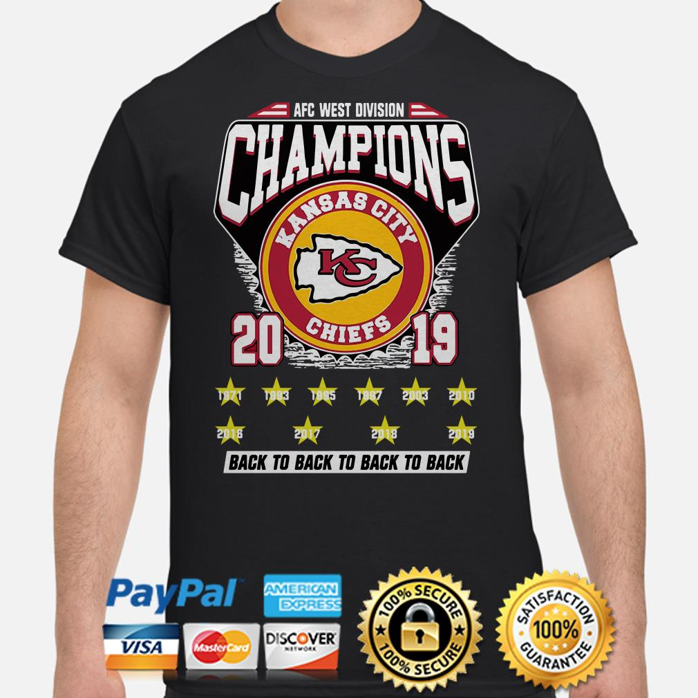 Kansas City Chiefs AFC West Division Champions 2019 back to back big ten shirt