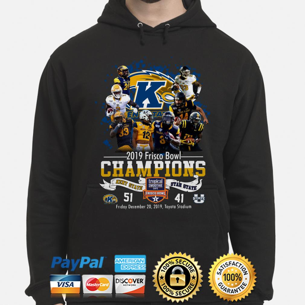 Kent State 2019 Frisco Bowl Champions vs Utah State Hoodie