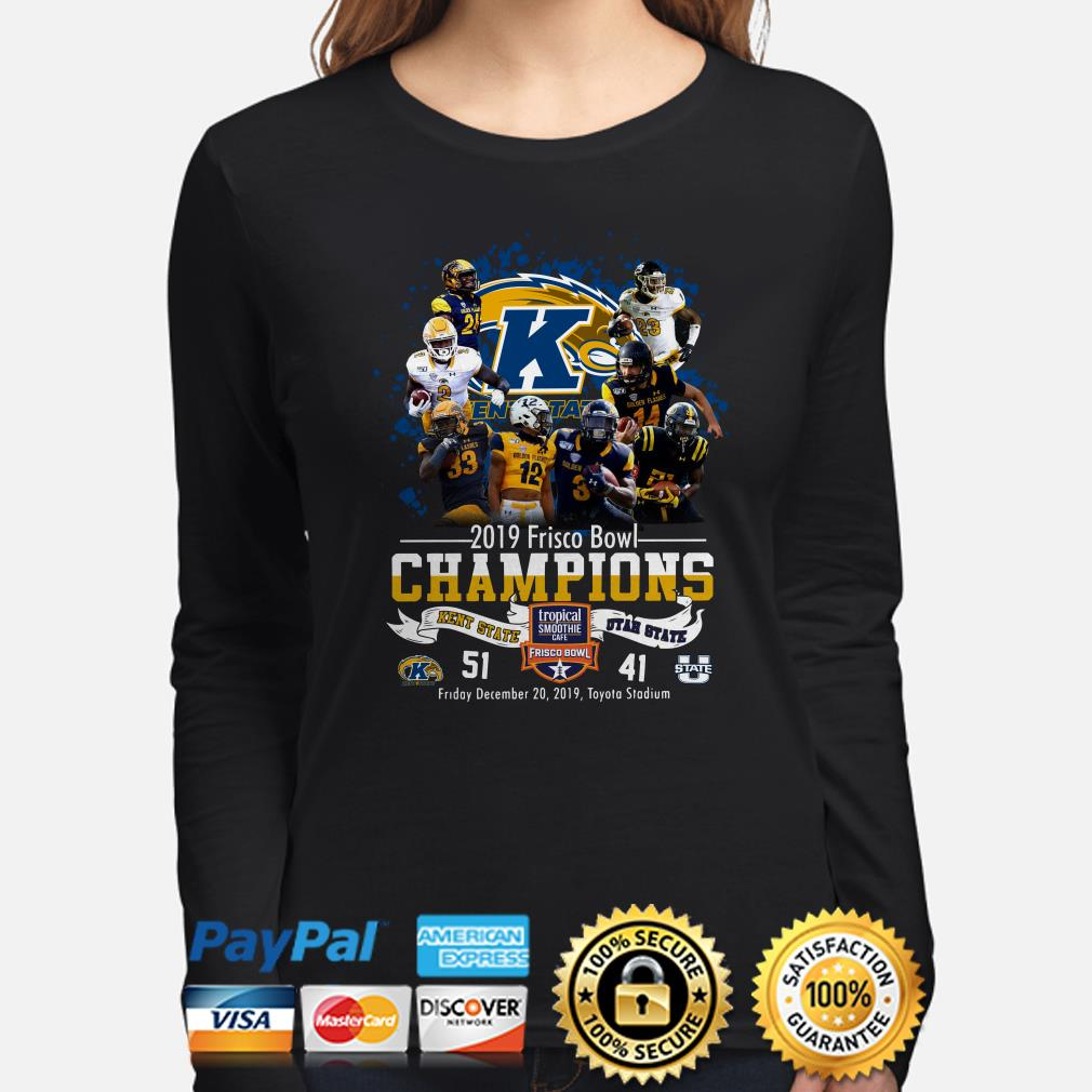 Kent State 2019 Frisco Bowl Champions vs Utah State Long sleeve