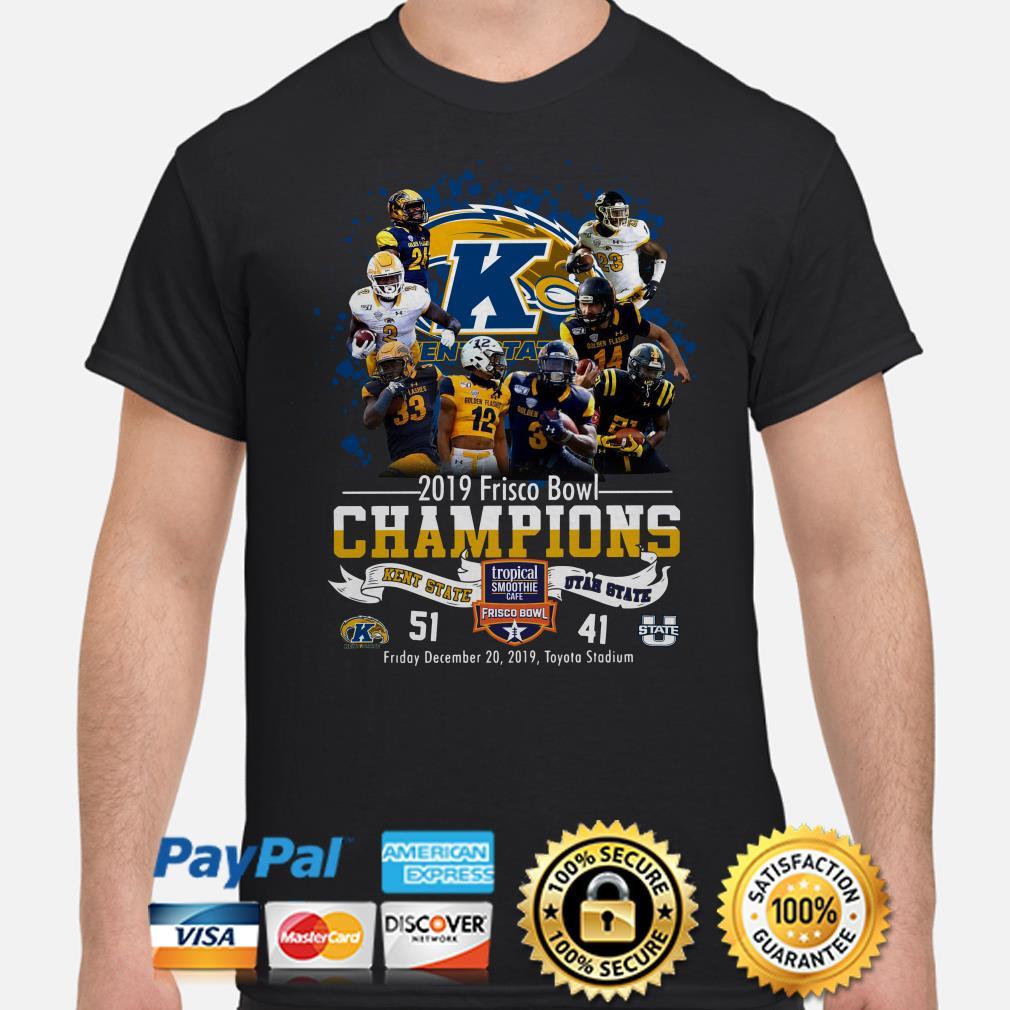 Kent State 2019 Frisco Bowl Champions vs Utah State shirt