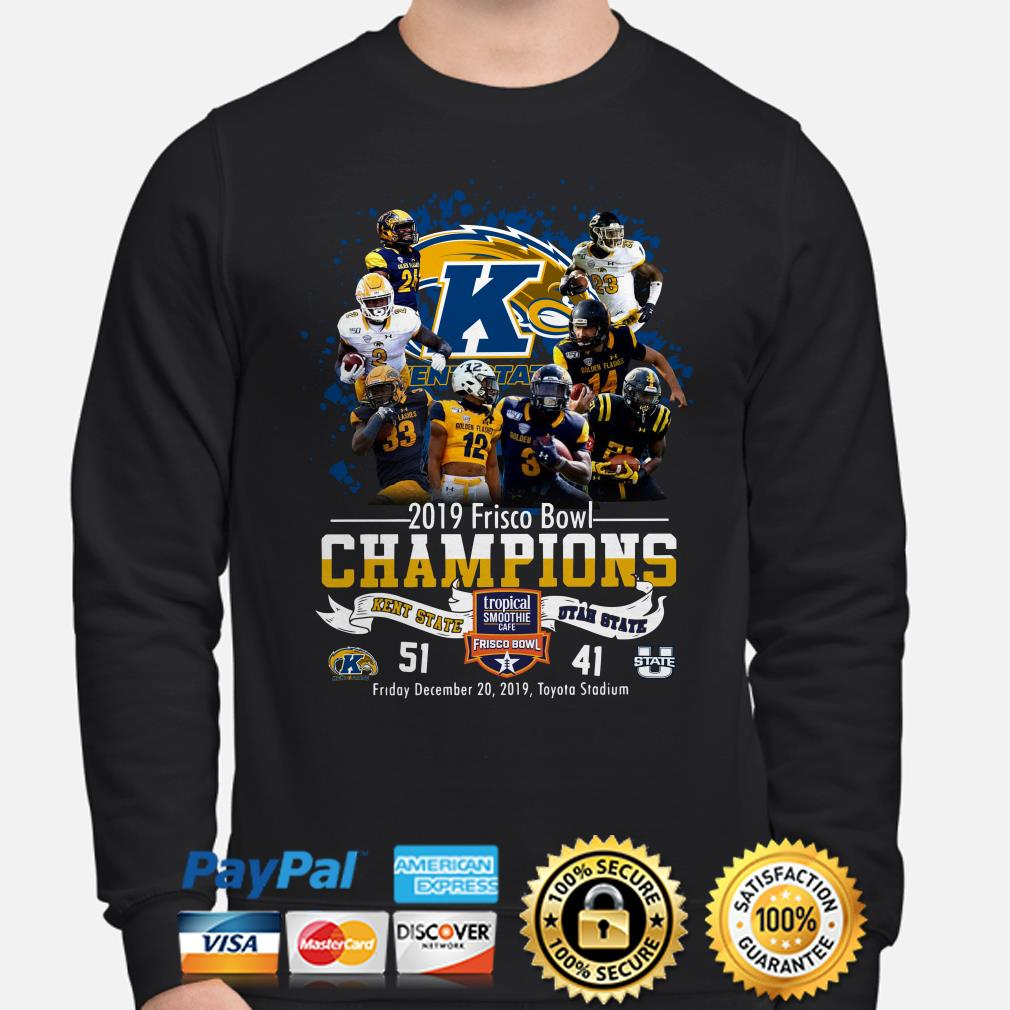 Kent State 2019 Frisco Bowl Champions vs Utah State Sweater