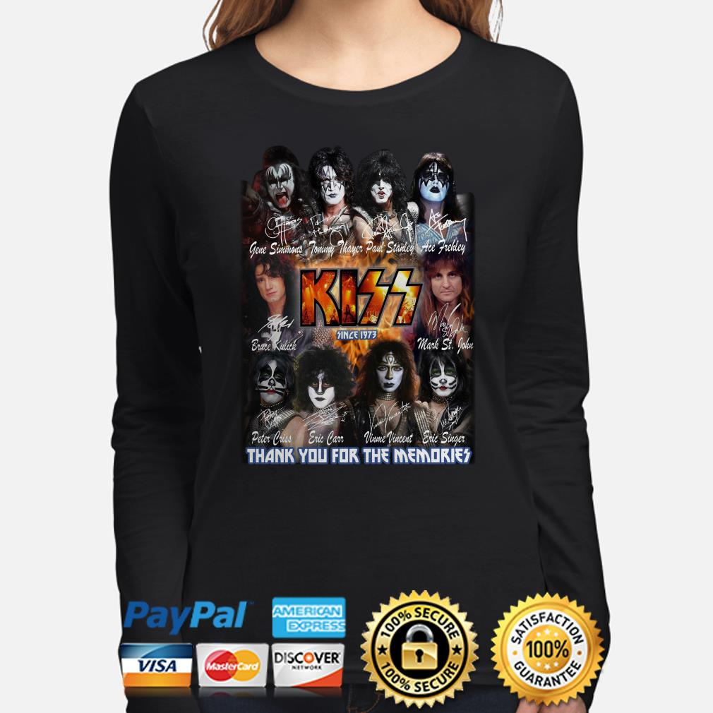 Kiss since 1973 thank you for the memories signature Long sleeve