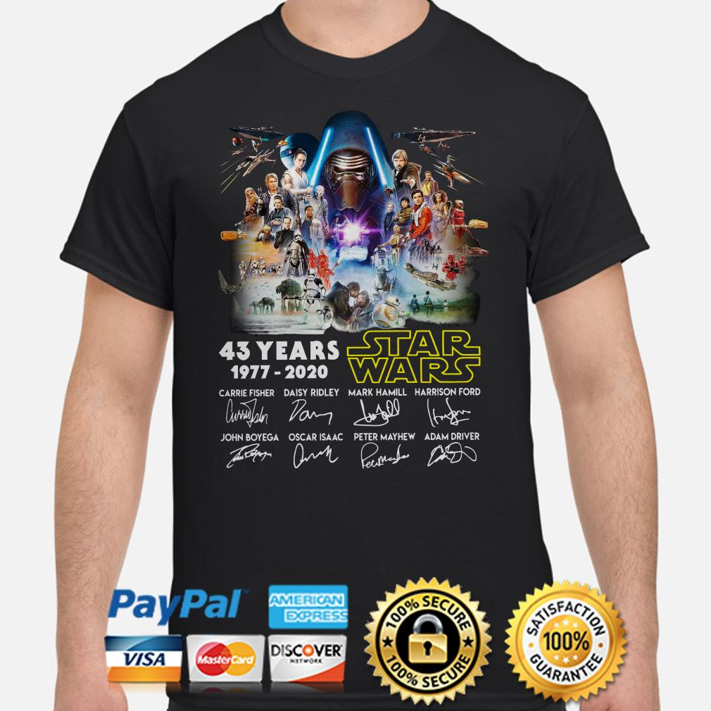 Kylo Ren 43 years of Star Wars signature shirt