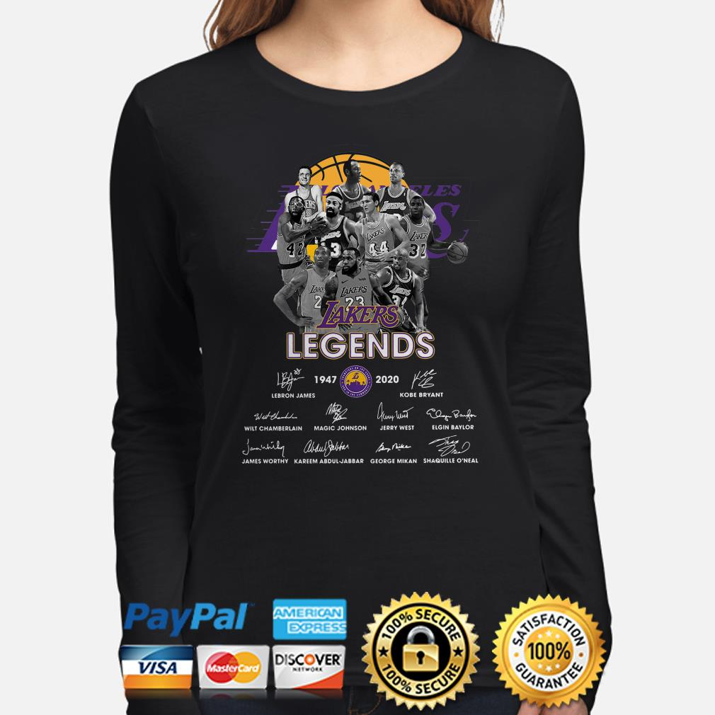 Lakers Legends players signature Long sleeve