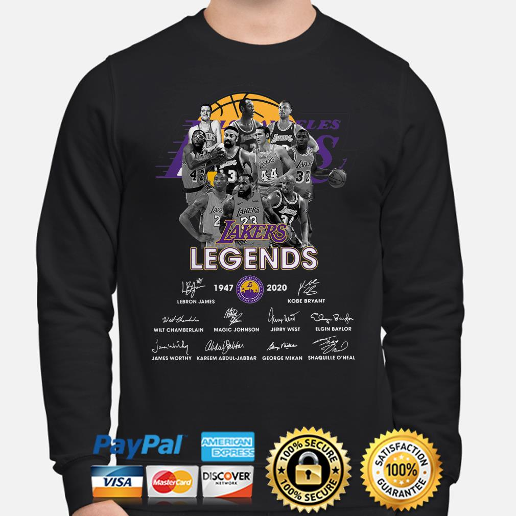 Lakers Legends players signature Hoodie