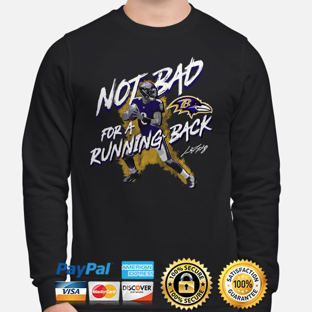 Lamar Jackson Baltimore Ravens Not Bad for a Running Back Sweater