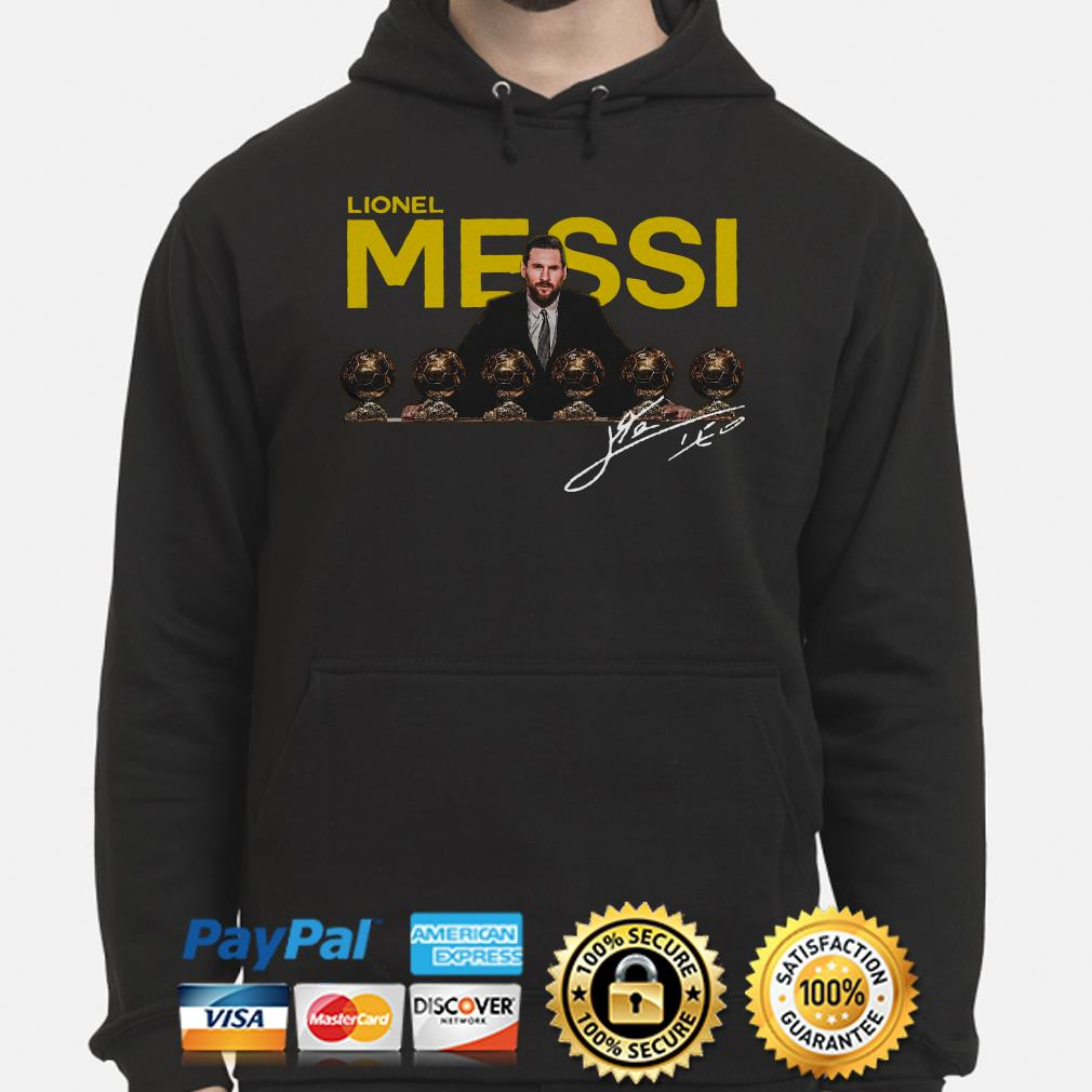 Lionel Messi 2019 D'or Ballon signature Hoodie