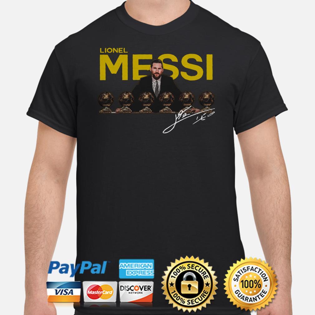 Lionel Messi 2019 D'or Ballon signature shirt