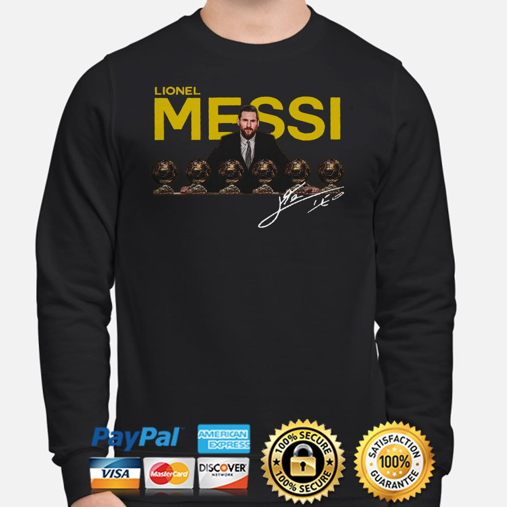 Lionel Messi 2019 D'or Ballon signature Sweater