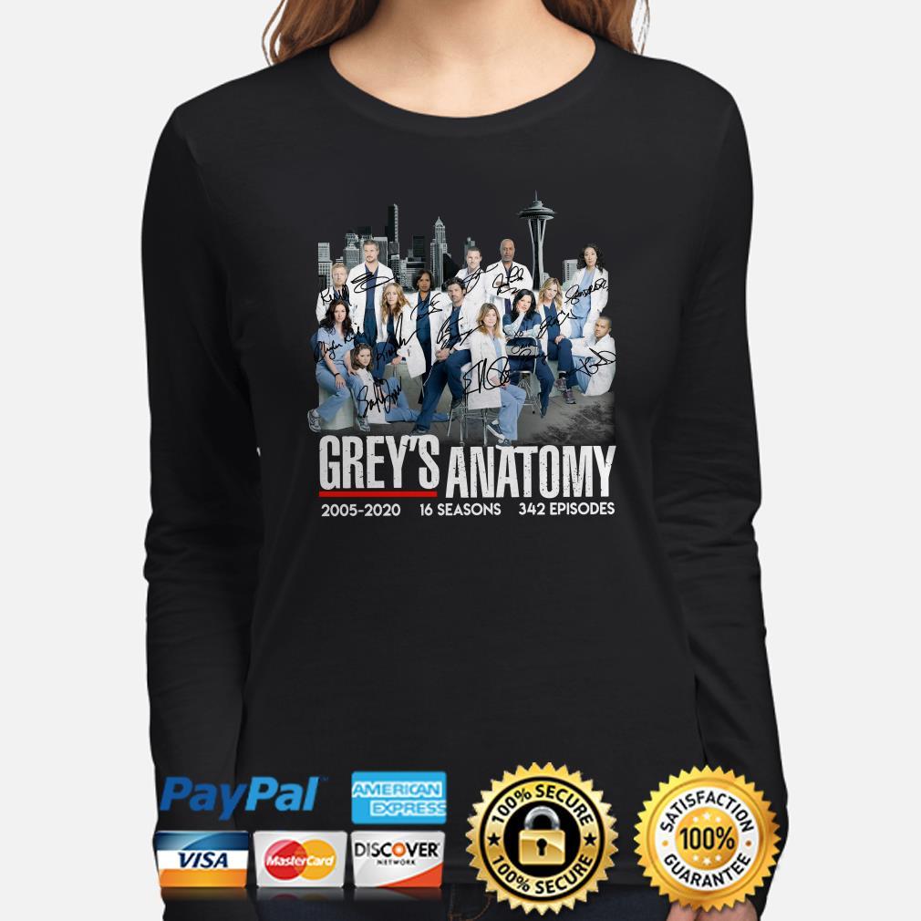 Grey's Anatomy 2005 2020 signatures Long sleeve
